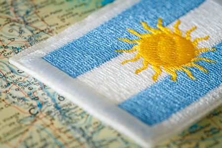 Argentina flag on the map
