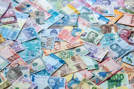 Money from around the world, various currencies