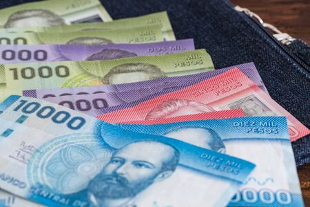 Money from Chile / Pesos Stock Photo