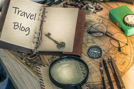 Traveler's notebook with the words