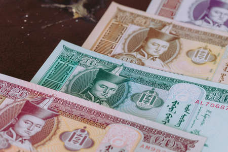 Mongolia currency, Tugrik money, Various banknotes