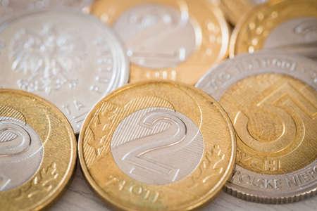 Polish money, zloty, small coins Reklamní fotografie