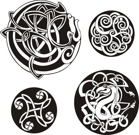 Round Celtic Knots  Vector Set  Stock Vector - 13572161
