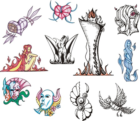 biomechanics: Miscellaneous Fantasy Vector Designs