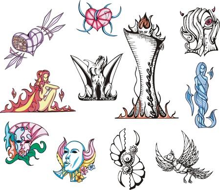 biomechanics: Miscellaneous Fantasy Vector Designs