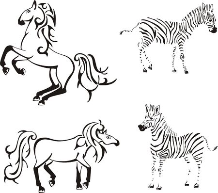 stead: Horses and zebras
