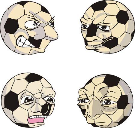 Funny Soccer Balls. Stock Vector - 14020788