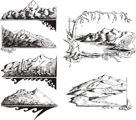 Mountain sketches.