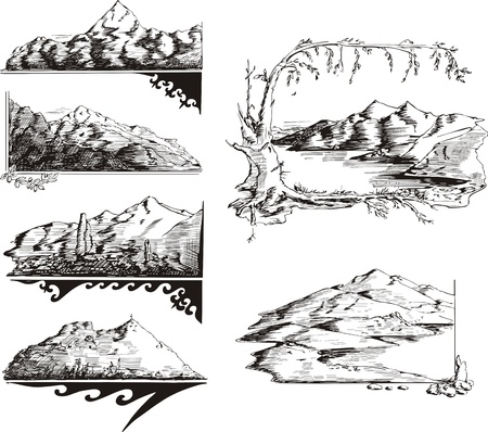 Mountain sketches.
