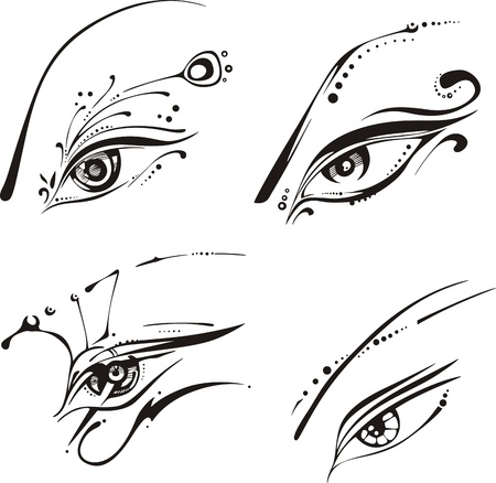 Stylized eyes.