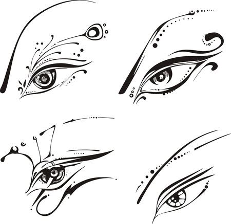 Stylized eyes.