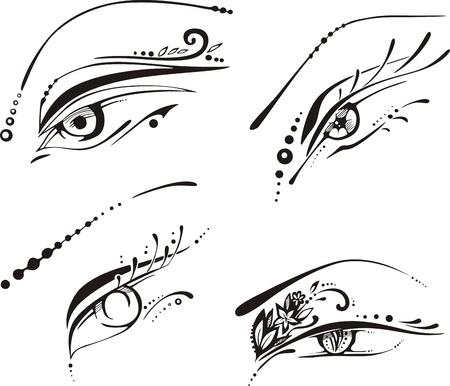pinstripe: Stylized eyes Illustration
