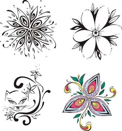 Stylized flowers. Stock Vector - 14176202