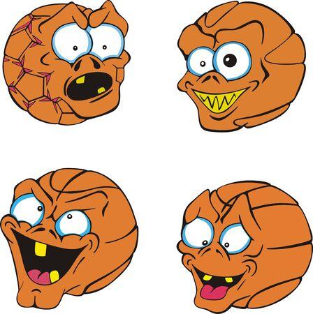 basketballs: Ugly and funny basketballs.