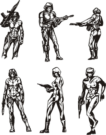 biomechanics: Amazon Cyborgs. Illustration