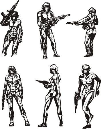 biomechanics: Amazon Cyborgs. Illustration