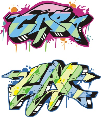 Graffito text design - cap. Color vector illustration. Stock Vector - 14952973
