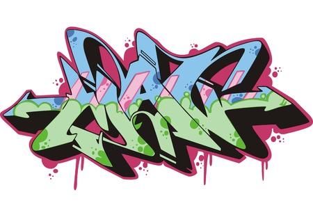 Graffito text design - man. Color vector illustration. Stock Vector - 14952953