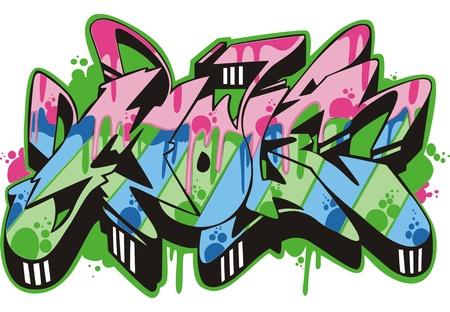 Graffito text design - mole. Color vector illustration. Stock Vector - 14952960