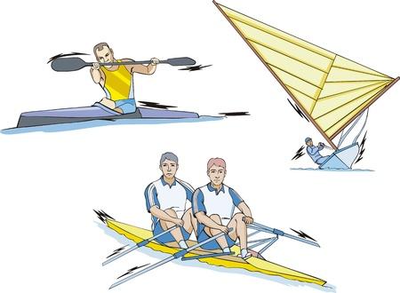 slalom: Sporty wodne: slalom Whitewater, wioślarstwo i żeglarstwo.