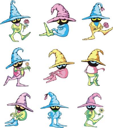 Cartoon gardener dwarf characters. Stock Vector - 16729511