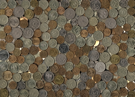 kopek: background of miscellaneous Russian coins