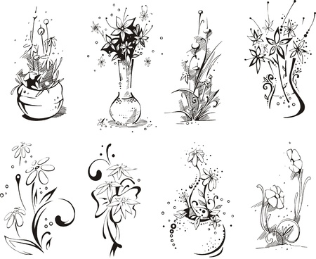 stylistic: Stylistic flower embellishments