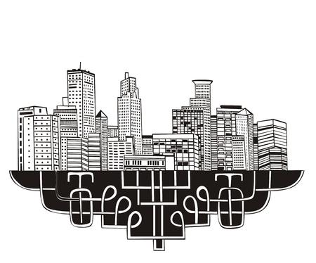 Minneapolis, MN Skyline. Black and white Stock Vector - 17331931