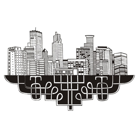 Minneapolis, MN Skyline. Black and white Stock Vector - 17331931