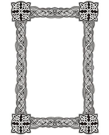 Keltische decoratieve knoop frame. Zwart-wit Vector Illustratie