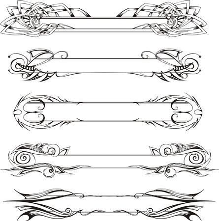 flimsy: set of slim decorative panels Illustration