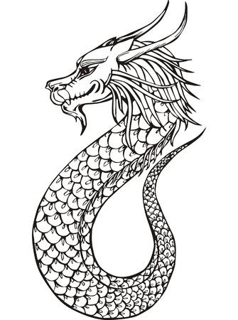Oriental legless dragon.