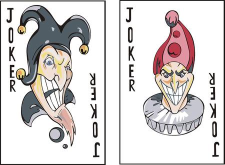 Spielkarten. Jokers. Standard-Bild - 22394295