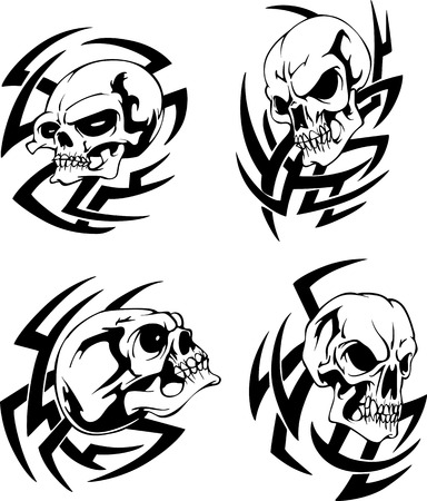revelation: Skull tattoos.  Illustration