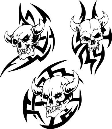devil's bones: Devil Skulls.