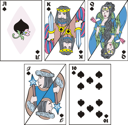 Playing cards - set of spades.