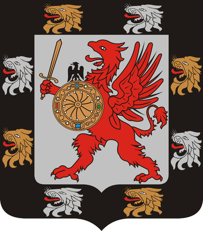 gryphon: Coat of arms of the Romanov dynasty - the dinasty of the Russian emperors.