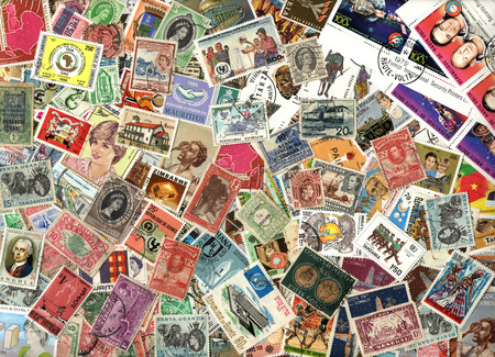Background of the postage stamps issued in miscellaneous countries in Africa