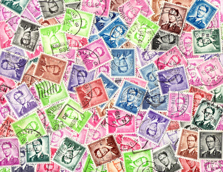 belgie: King Baudouin. Background of the postage stamps issued in Belgium