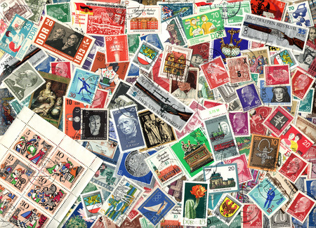 gdr: Background of the postage stamps issued in East Germany (GDR)