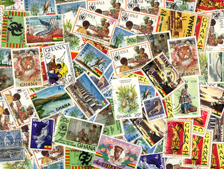postage stamps: Background of the postage stamps issued in Ghana