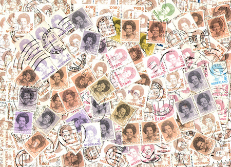 postage stamps: Background of the postage stamps issued in the Netherlands