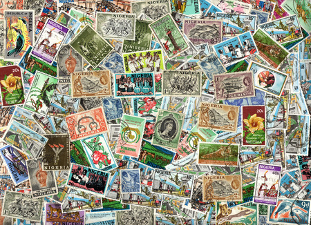 definitive: Background of the postage stamps issued in Nigeria