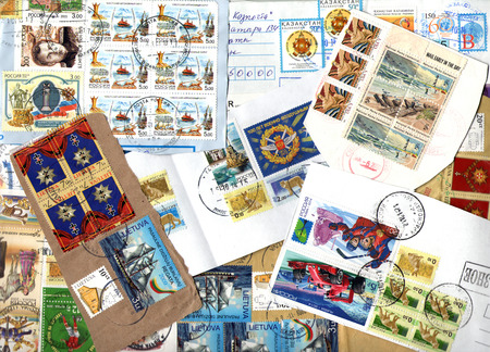 postage stamps: Background of the postage stamps issued in miscellaneous countries. Scraps.