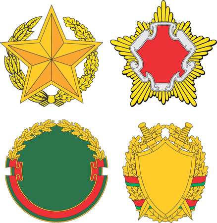 Belarus emblematic and heraldic templates. Set of vector images