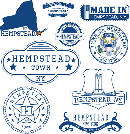 일반 우표 및 헴 스 테드 타운, 뉴욕 주 표지판 세트