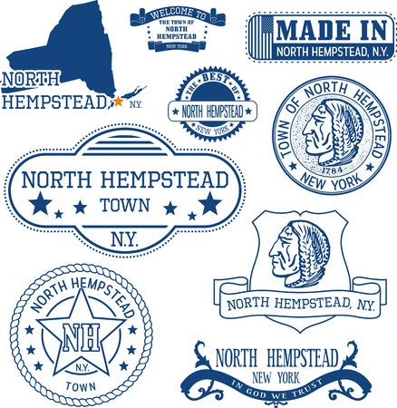 일반 우표 및 기호 북쪽 헴 스 테드 마, 뉴욕 상태 집합