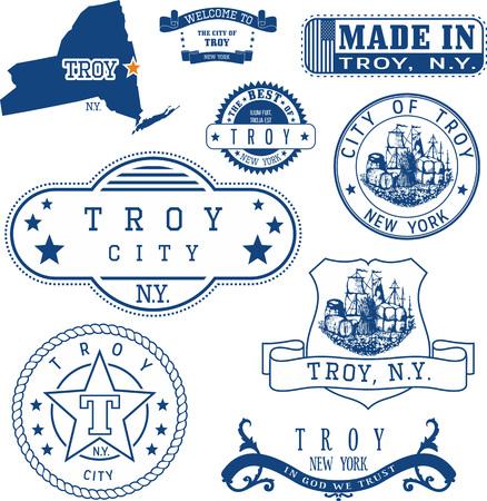 일반 우표 및 트로이 도시, 뉴욕 주 표지판 집합