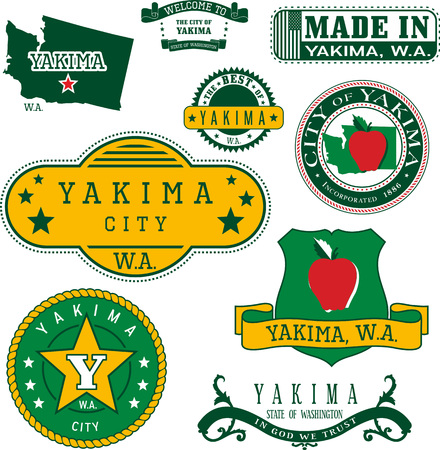 일반 우표 및 야키 마 도시, 워싱턴의 징후 집합 일러스트