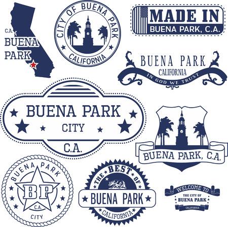 일반 우표 및 부에나 파크 시티, 캘리포니아의 흔적 집합